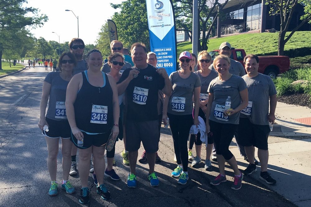 The frank Agency at the 2016 Kansas City Corporate Challenge Kick-Off 5K