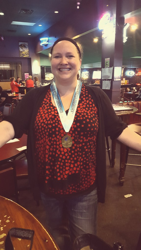 Dawn Billinger, Director of Media, wins gold at the 2016 Kansas City Corporate Challenge Darts event