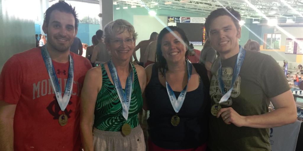 The frank Agency swim team, 2016 Kansas City Corporate Challenge