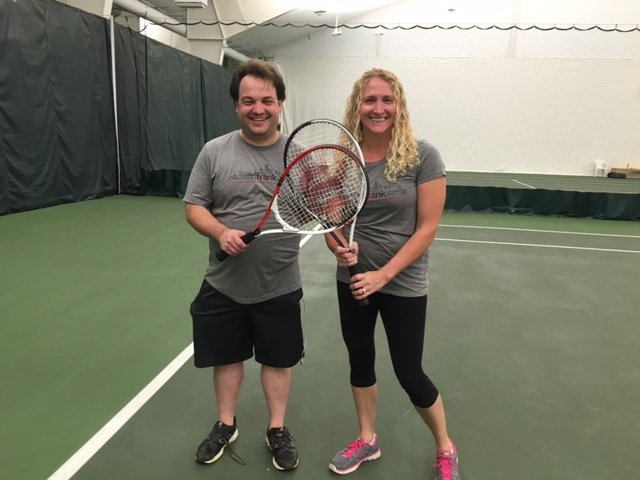 James Fuller and Becky Tomsic at 2016 Kansas City Corporate Challenge tennis