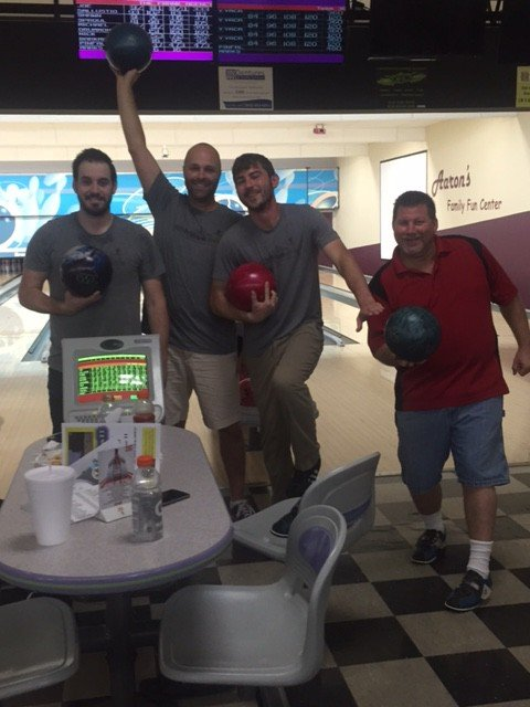 The frank Agency men's bowling, 2016 Kansas City Corporate Challenge